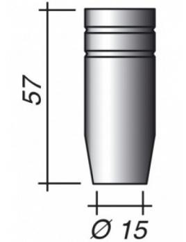 Plynová hubica Ø 15